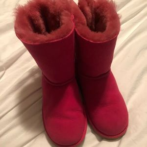 Hot Pink Girls Ugg Boots size 4